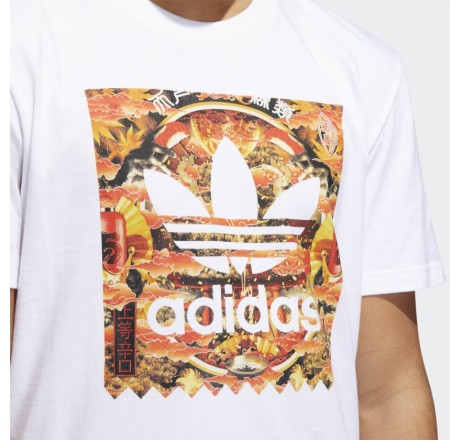 Adidas Evison Bb Fill t-shirt a manica corta da uomo con logo orientale