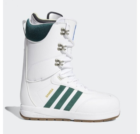Adidas Samba ADV scarponi da snowboard da uomo bianchi e verdi
