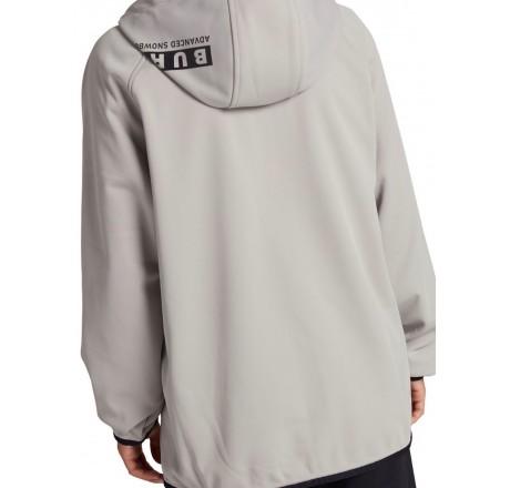 Burton Crown Weatherproof Full-Zip Fleece felpa tecnica da uomo grigia