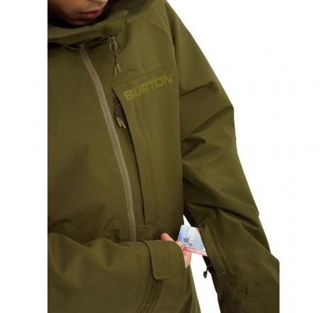 Burton Gore Radial Jacket Slim giacca snowboard da uomo in Gore-Tex dettaglio porta skipass
