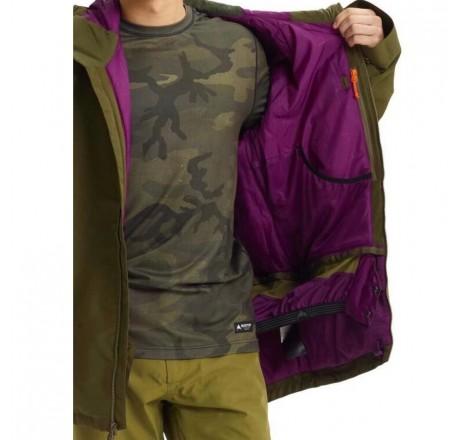 Burton Gore Radial Jacket Slim giacca snowboard da uomo in Gore-Tex dettaglio interno