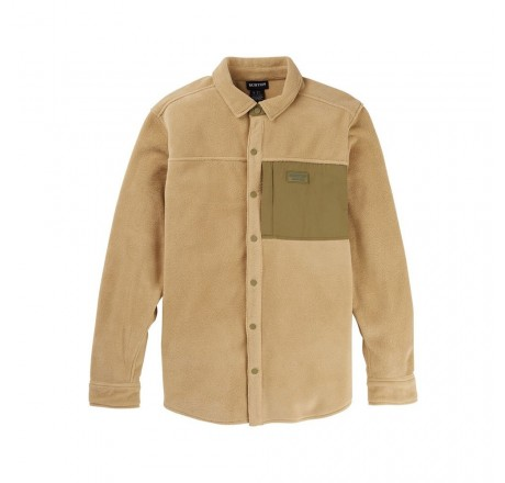 Burton Hearth Fleece camicia in pile da uomo