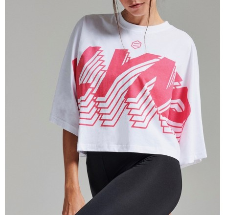 Dolly Noire DLYNR longsleeves t-shirt crop da donna oversize con logo