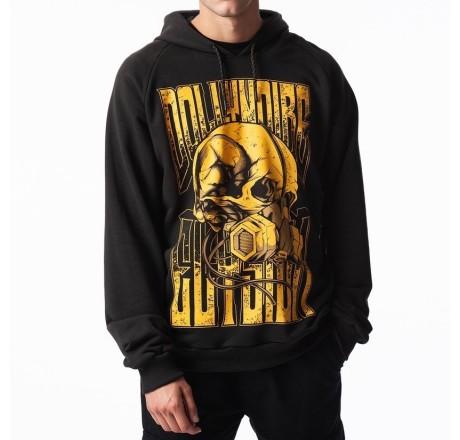Dolly Noire Elysium Skull Hoodie felpa con cappuccio da uomo