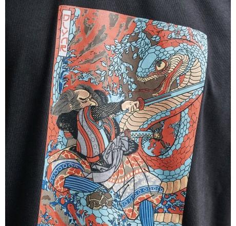 Dolly Noire Kuniyoshi t-shirt a manica corta da uomo con stampa giapponese
