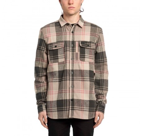 Globe Clifton camicia a quadri in flanella pesante da uomo