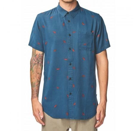 Globe Elemental Ss Shirt camicia da uomo a manica corta con taschino