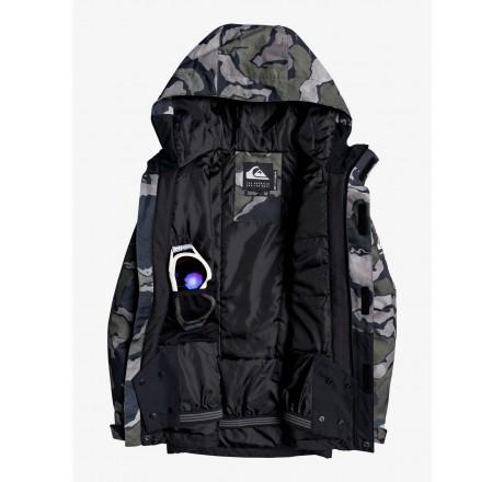Quiksilver Mission Block giacca snowboard da ragazzo dettaglio interno