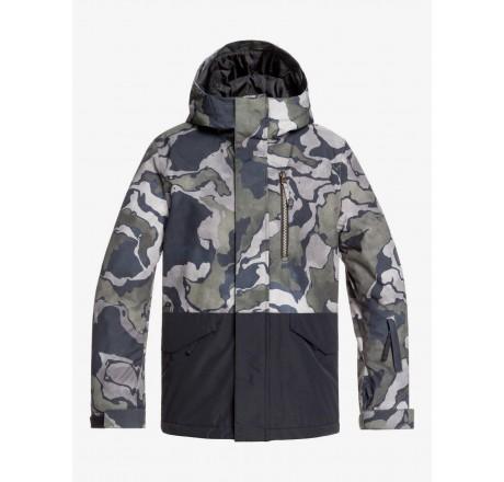 Quiksilver Mission Block giacca snowboard da ragazzo