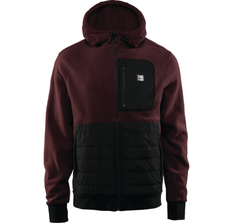 Thirtytwo Filter Polar Fleece Zip Hood pile tecnico idrorepellente da uomo