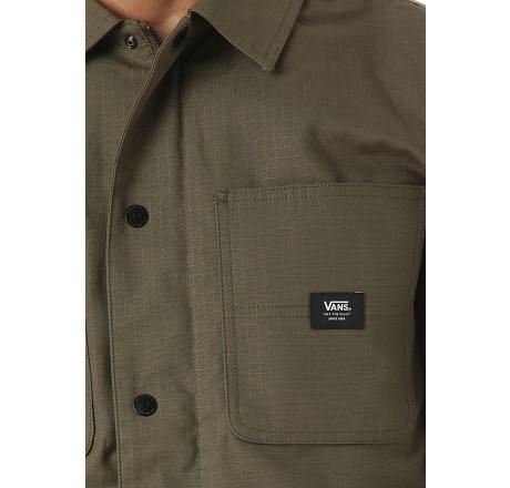 Vans Drill Chore giacca leggera idrorepellente da uomo dettaglio etichetta
