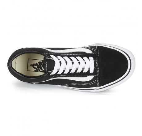 Vans Old Skool scarpe nere in pelle scamosciata e tela unisex