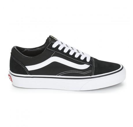 Vans Old Skool scarpe basse da skate in pelle scamosciata e tela nere e bianche