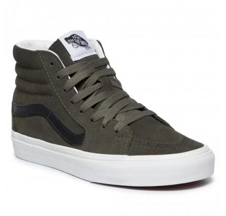 Vans Sk8-Hi scarpe alte in pelle scamosciata da uomo verdi