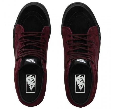 Vans Sk8-Mid Reissue Ghillie Mte scarpe mid in pelle scamosciata da uomo bordeaux
