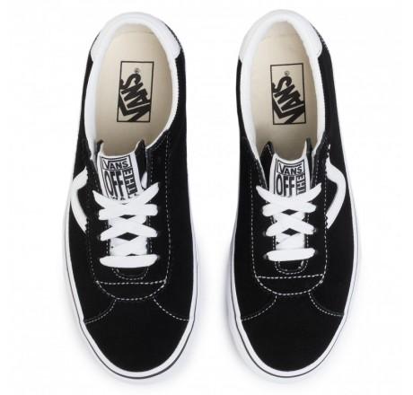 Vans Sport scarpe basse in pelle scamosciata da uomo nere