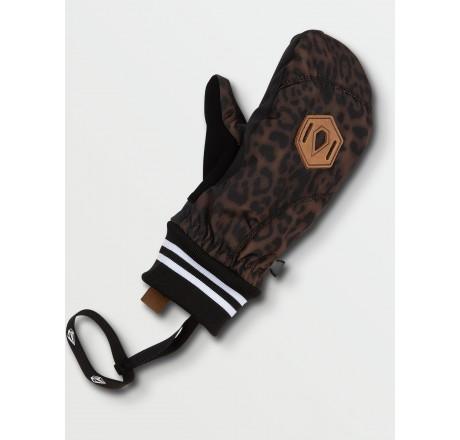 Volcom Bistro Mitt guanti snowboard a muffola da donna leopard