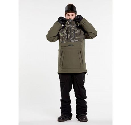 Volcom Brighton Pullover guscio snowboard da uomo modello anorak