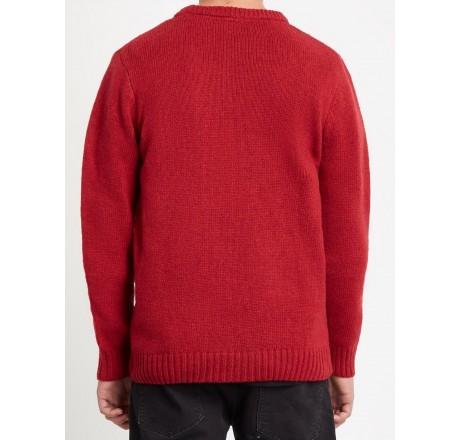 Volcom Edmonder Sweater maglione da uomo rosso
