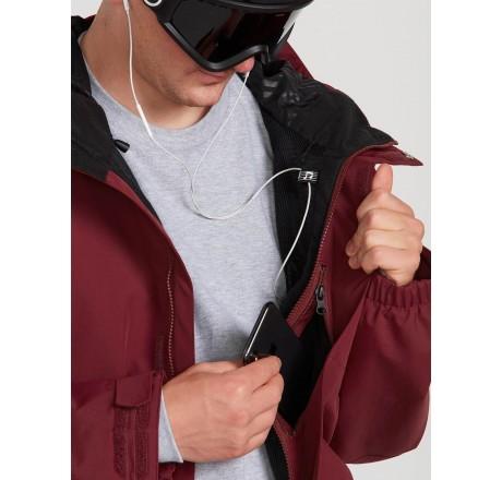 Volcom L Insulated GORE-TEX Jacket giacca snowboard da uomo dettaglio tasche