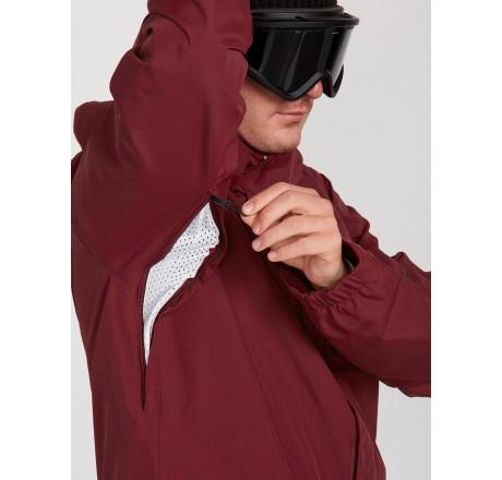 Volcom L Insulated GORE-TEX Jacket giacca snowboard da uomo dettaglio prese d'aria