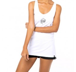 Dolly Noire Hexagon White Tank Top Woman