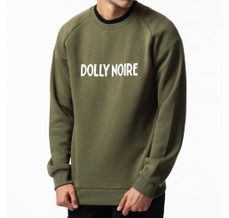 Dolly Noire Logo Capital Green Crewneck